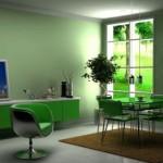 Зеленый цвет в интерьере — Ремонт дома